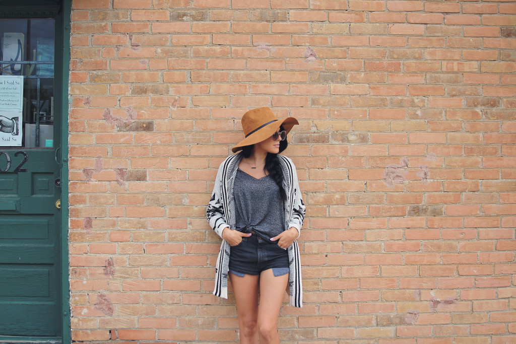 black denim shorts from urban outfitters