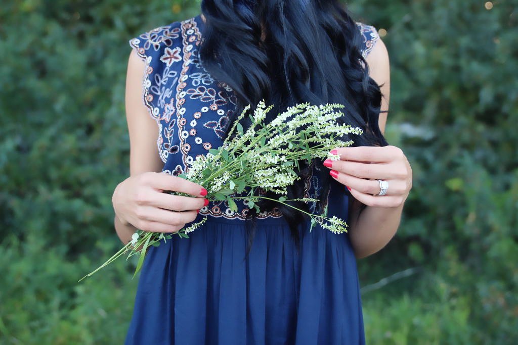 blue summer dress from anthropologie