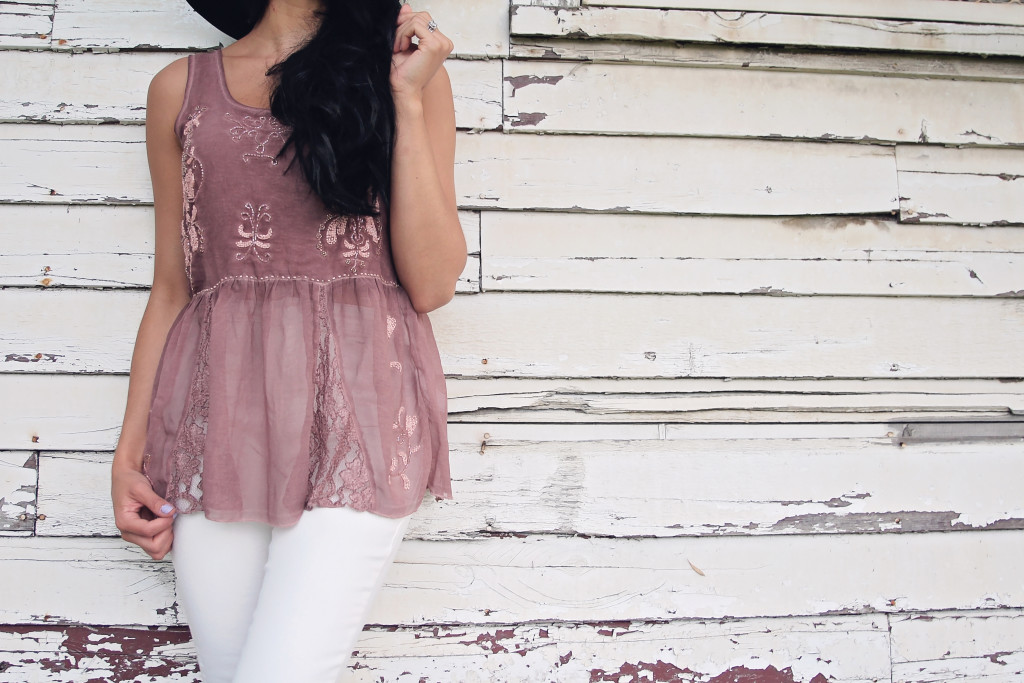 pink lace top from forever 21
