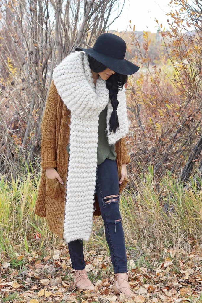 bundled look for fall