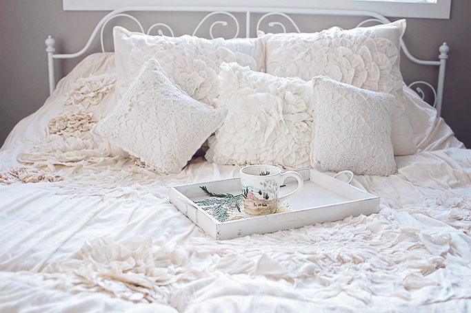 cozy shabby chic bed
