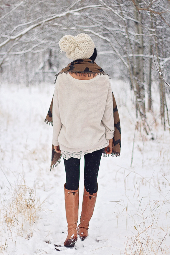 cozy winter look