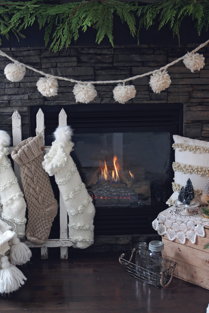 fireplace christmas style