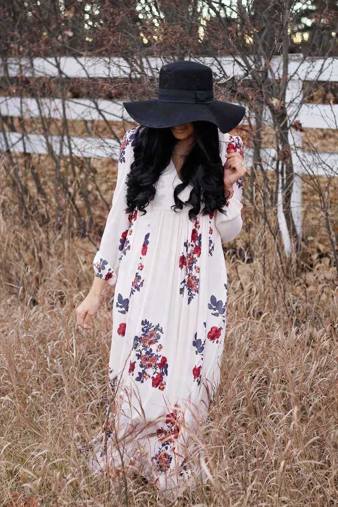 floral maxi dress from free people