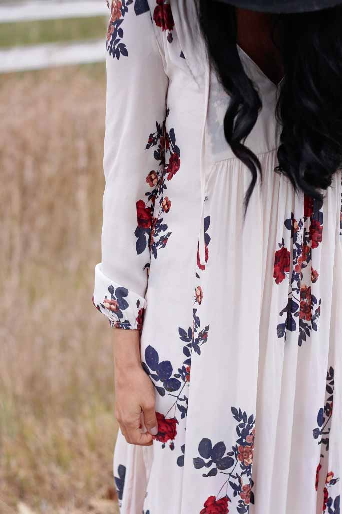 floral print maxi for fall