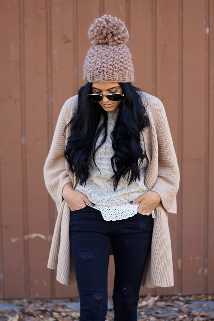 lace trim sweater from anthropologie