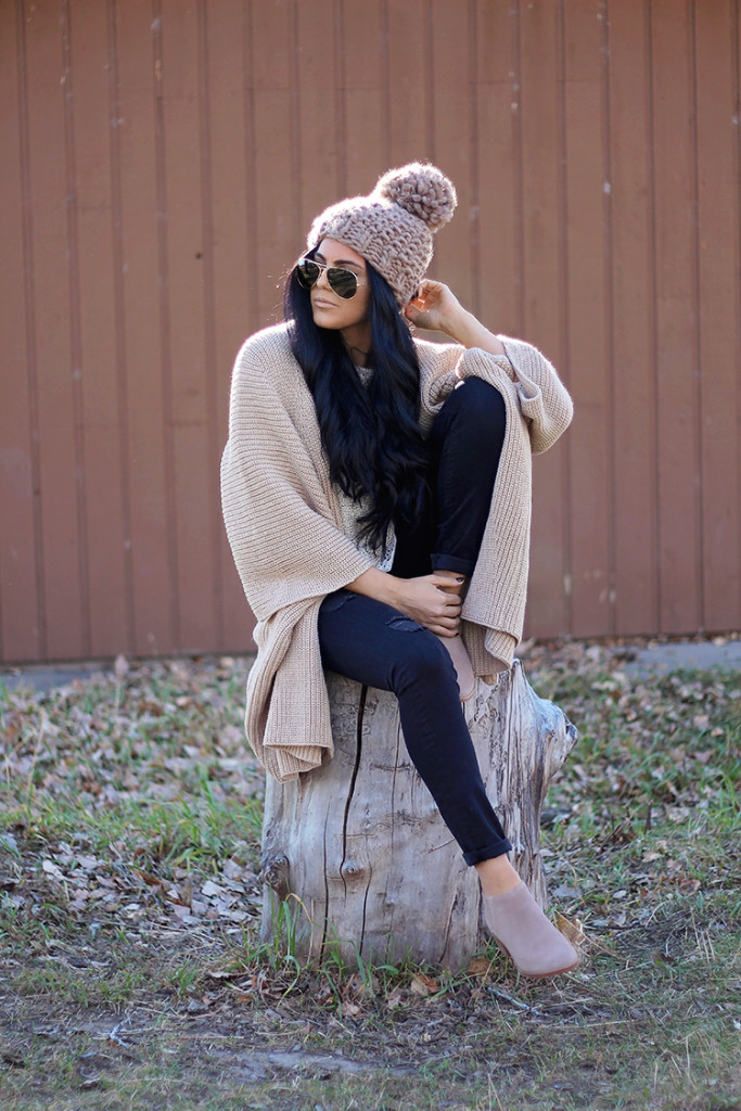 neutral casual sweater from anthropologie