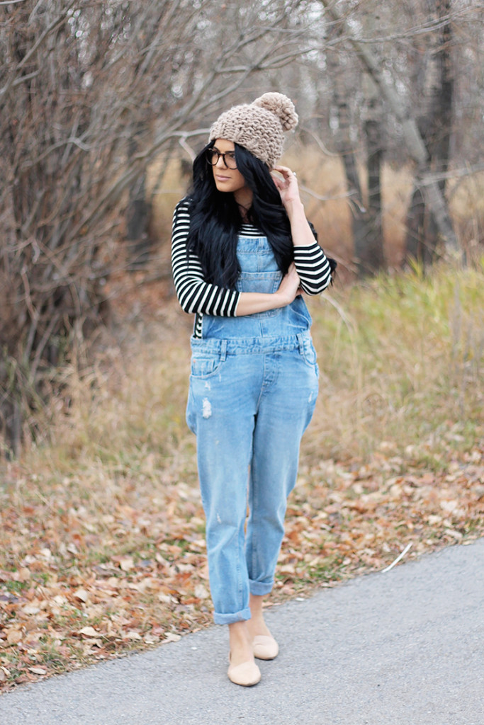 overalls in the winter