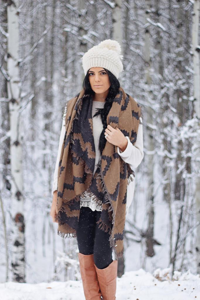 vegan blanket scarf