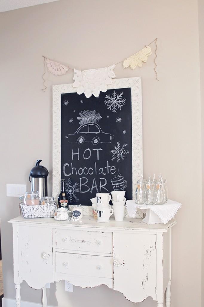 antique hot chocolate bar
