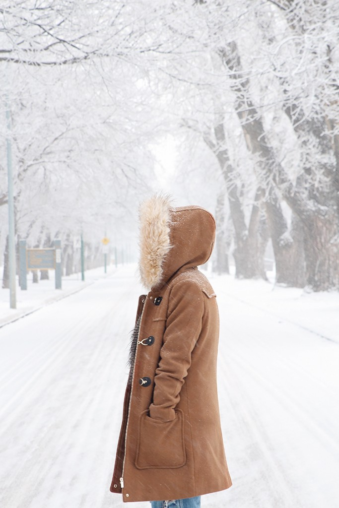 cozy winter style faux fur