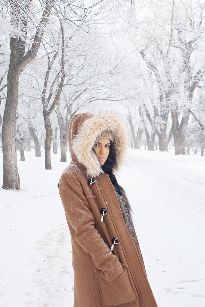 faux fur tan jacket
