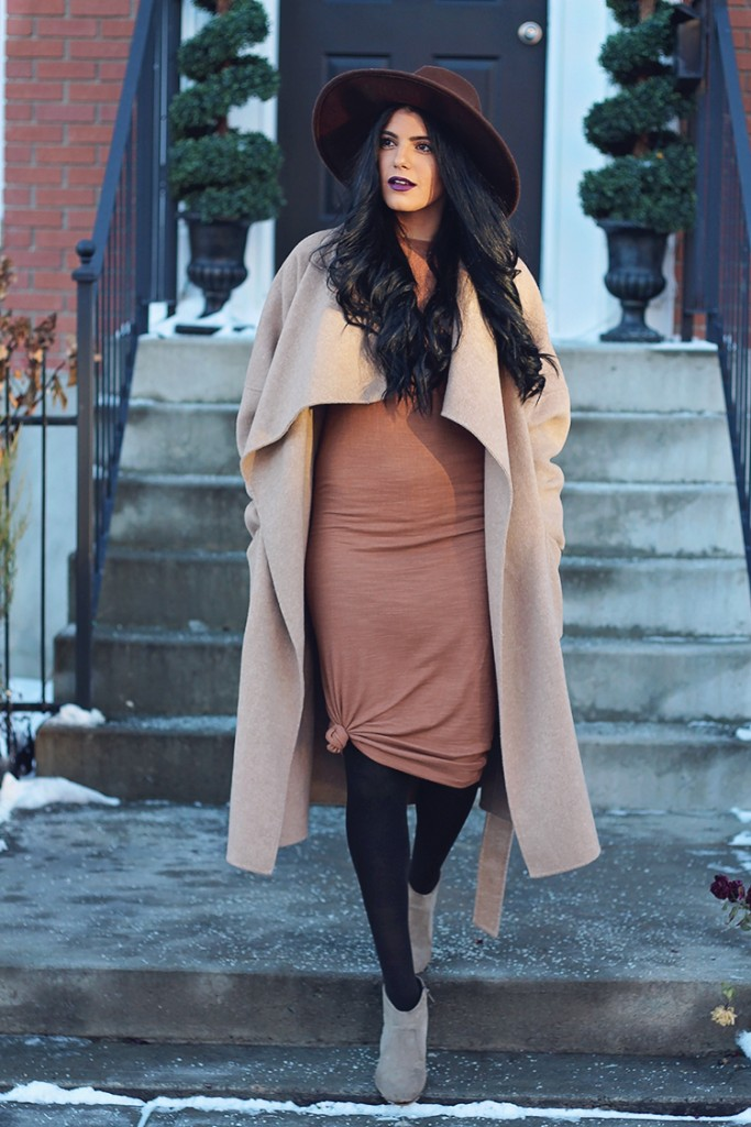 midi dress for winter