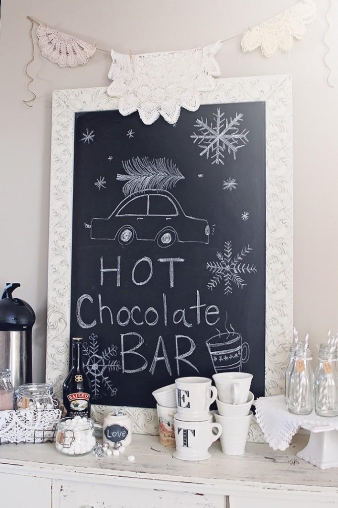 shabby chic hot chocolate bar
