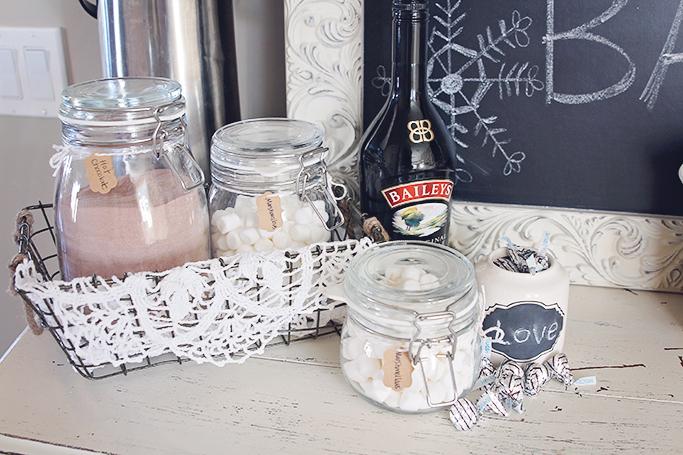 winter hot chocolate bar ideas