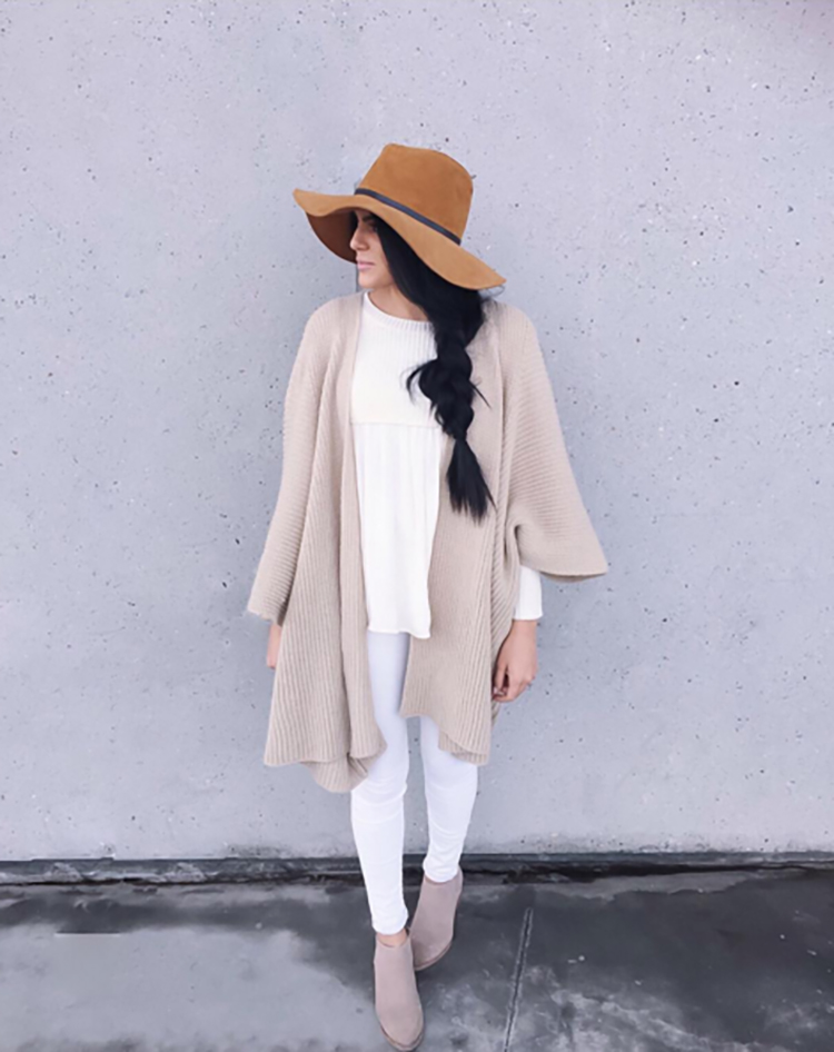 cream cardigan from anthropologie