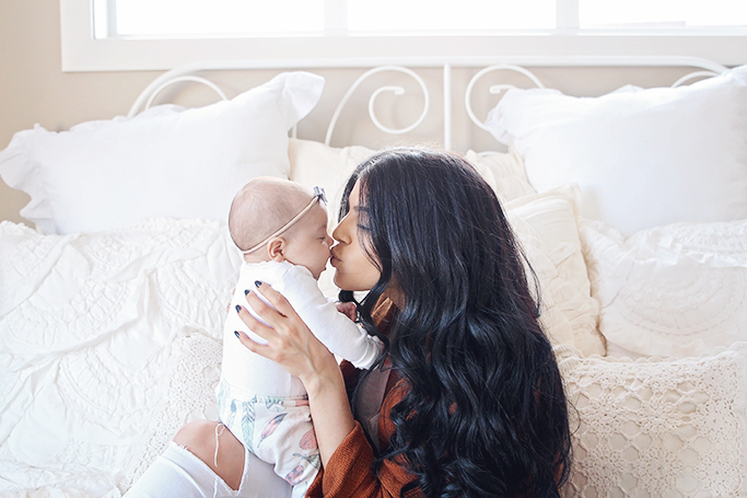 baby harlow and mom playtex
