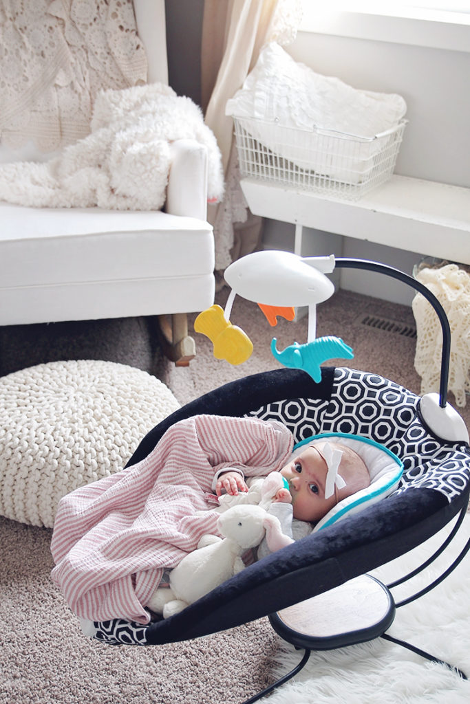 <center>INFANT BOUNCER WE CAN'T LIVE WITHOUT</center>