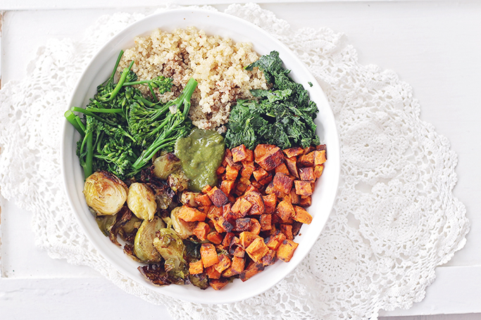 <center>VEGAN PESTO KALE BOWL</center>