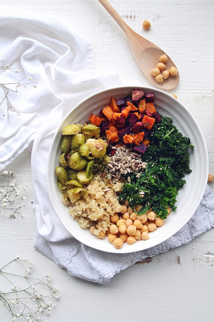 <center>ROASTED VEGGIE PROTEIN BOWL</center>