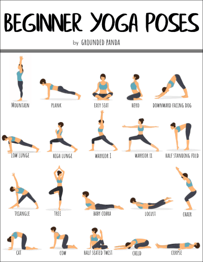 It's just a picture of Nerdy Printable Yoga Poses for Beginners