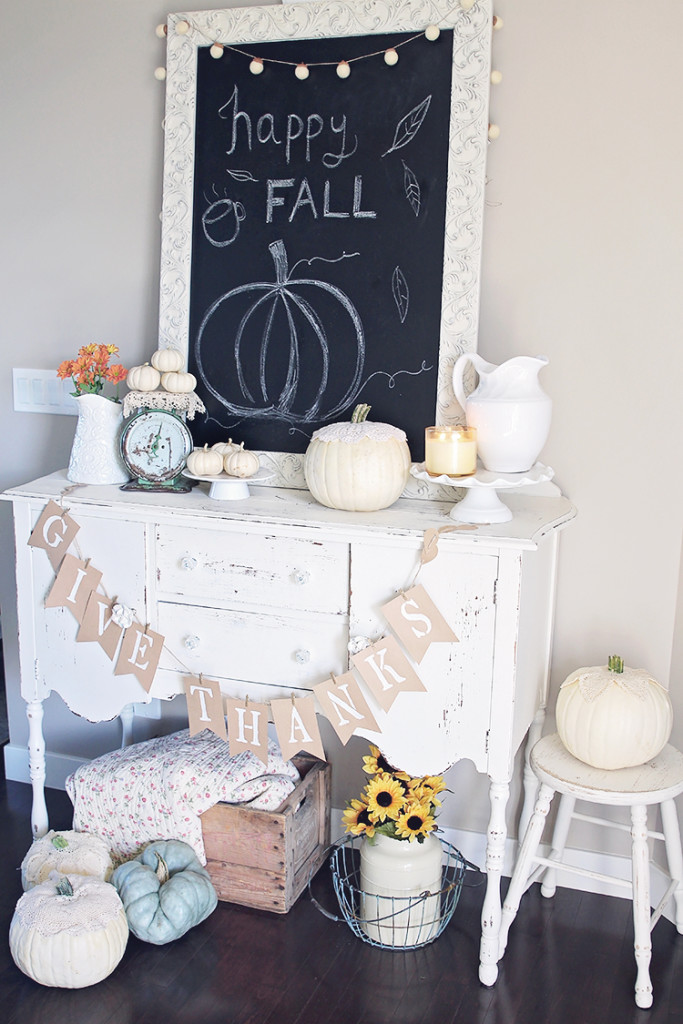 antique fall decor