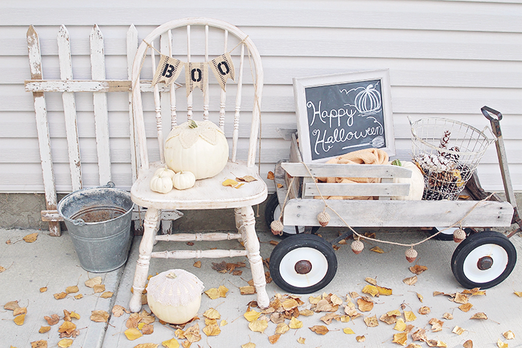 halloween shabby chic decor