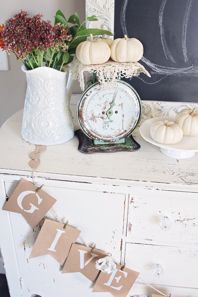 shabby chic fall home decor