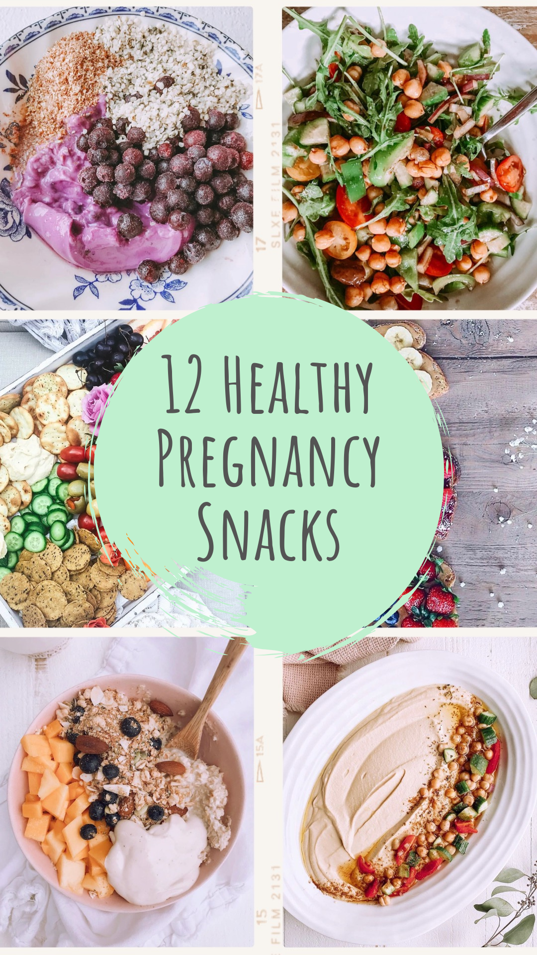 <center>12 HEALTHY (VEGAN) SNACKS FOR PREGNANCY</center>